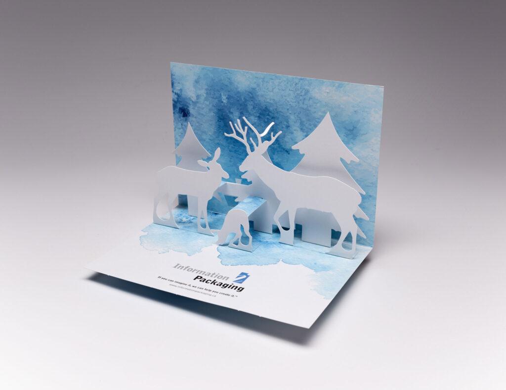Snow Scene Pop Up Card